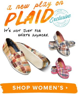 A new play on plaid - Shop Women's Exclusives