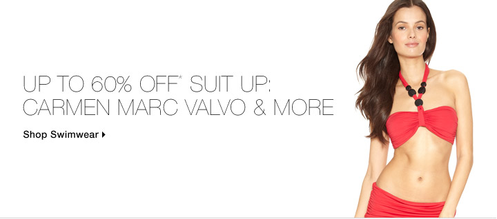 Up To 60% Off* Suit Up: Carmen Marc Valvo & More