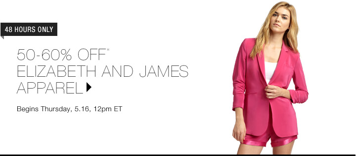 50-60% Off* Elizabeth And James Apparel...Shop Now