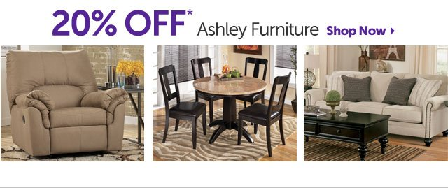 20% OFF* Ashley Furniture - Shop Now