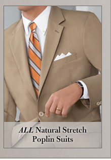 Natural Stretch Poplin Suits