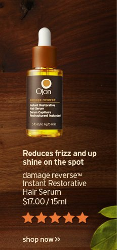 Reduces frizz and up shine on the spot damage reverse Instant  Restorative Hair Serum 17 dollars 15ml SHOP NOW