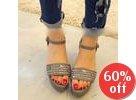 Skull Studded Platform Sandals