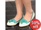 Snake Effect Tasseled Color-Block Loafers