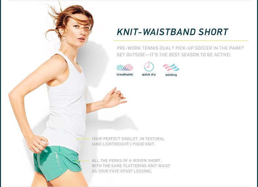 KNIT-WAISTBAND SHORT