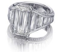 Christopher Designs Crisscut Asscher Engagement Ring