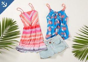 Swim & Sun: Girls' Summer Dresses, Tops & More