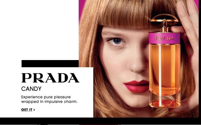 Prada. Candy. Experience pure pleasure wrapped in impulsive charm. Get it