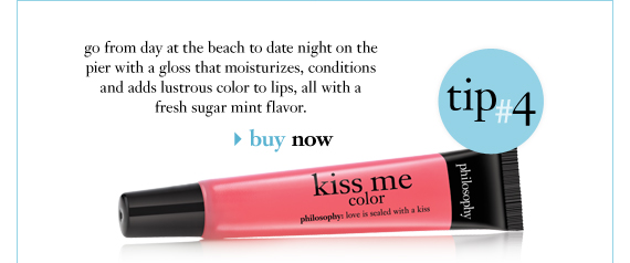 go from day at the beach to date night on the pier with a gloss that moisturizes, conditions and adds lustrous color to lips, all with a fresh sugar mint flavor.