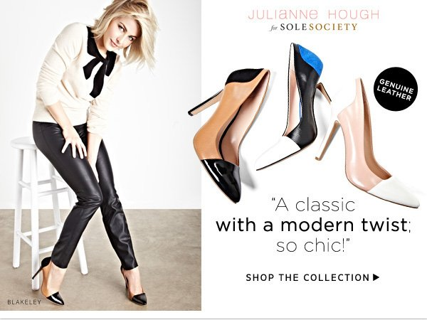 """""""A classic with a modern twist; so chic!"""" -Julianne Hough. Shop the Collection"""