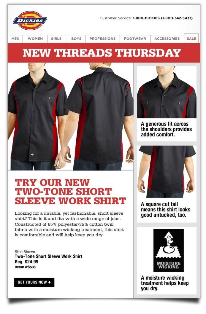 New Threads Thursday: Two-Tone Short Sleeve Work Shirt