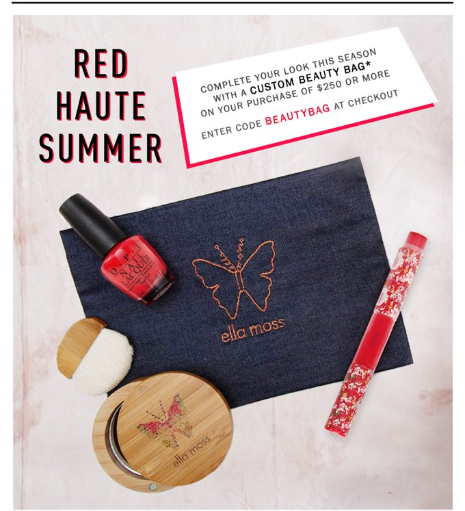 Complimentary Beauty Bag For Summer