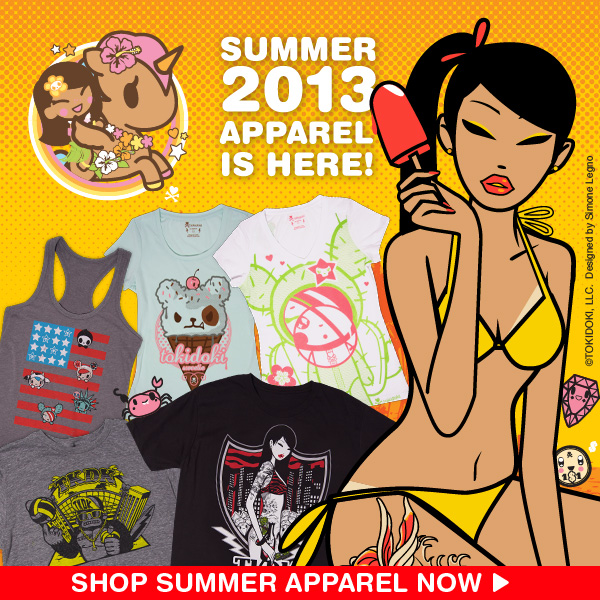 2013 tokidoki Summer Mens and Womens Apparel