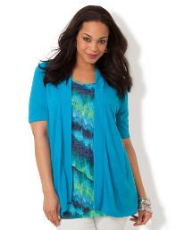 Vivid Blue Seascape Cardigan