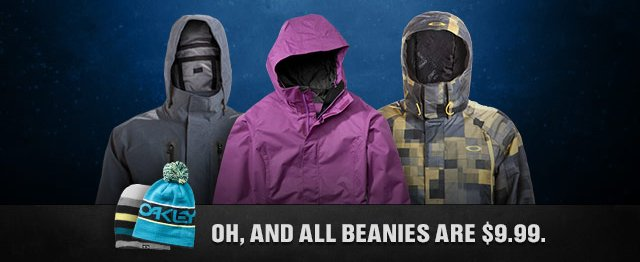 OH, AND ALL BEANIES ARE $9.99.