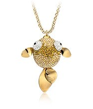 Lychee Large Pendant gold plated