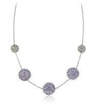 Pin-Up Long Violet Necklace