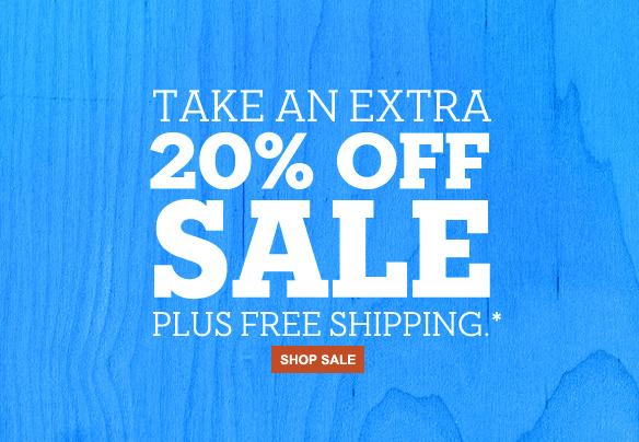 Take an extra 20% off sale plus free shipping.* Shop sale