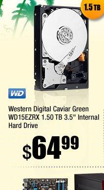 """Western Digital Caviar Green WD15EZRX 1.50 TB 3.5"""" Internal Hard Drive"""
