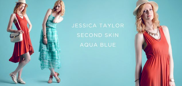 Jessica Taylor, Second Skin & Aqua Blue Women's Apparel