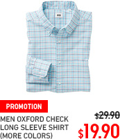 MEN OXFORD CHECK SHIRT