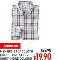 MEN EXTRA FINE CHECK BROADCLOTH SHIRT