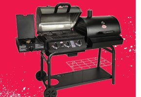 Char-Griller Duo 3-Burner Gas Grill and Charcoal Grill