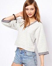 ASOS Sweatshirt with Wide V Neck