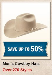 Shop Mens Cowboy Hats at Half Off
