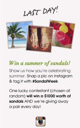 Win a summer of sandals!