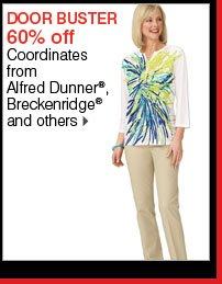 DOOR BUSTER 60% off Coordinates from Alfred Dunner®, Breckenridge® and others