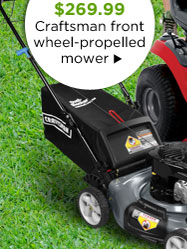 SAVE $60 - $269.99 - Craftsman front wheel-propelled mower