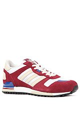 The ZX 700 M Sneaker in Cardinal, Bliss, & White