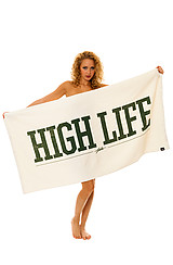The High Life Beach Towel in White