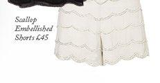 Scallop Embellished Shorts