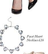 Facet Heart Necklace