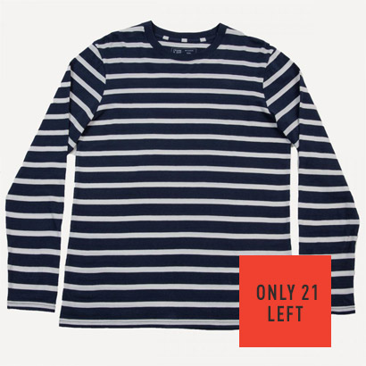 Philipps Striped Crew In Navy