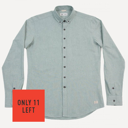 Belmont Chambray Shirt In Mint