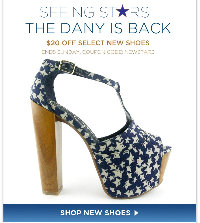 The Dany in Navy Star Print! $20 OFF TODAY! Use code: NEWSTARS