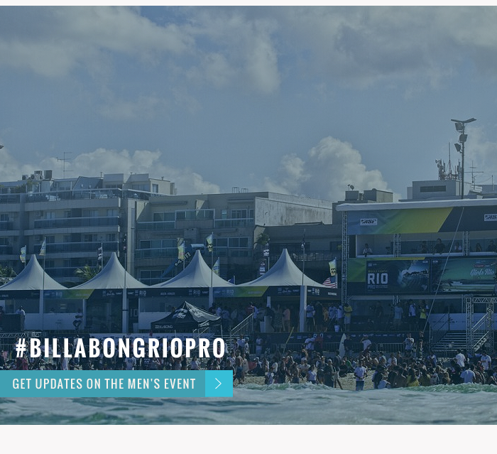 Waves on the way #Billabongriopro - Get updates on the men's event