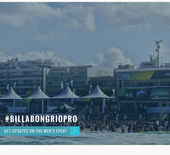 Waves on the way #Billabongriopro - Get updates on the men's event