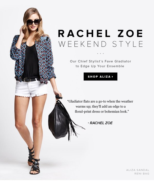 Amp Up Your Weekend with Rachel Zoe's Espadrille Fave!   Shop Aliza