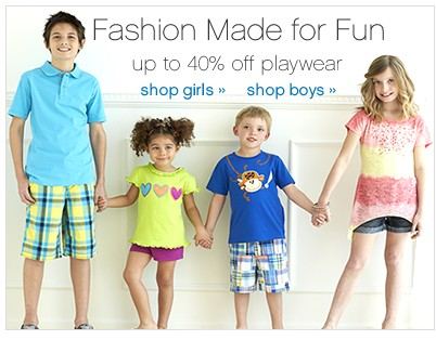 Up to 40% off Playwear. Shop Girls. Shop Boys.