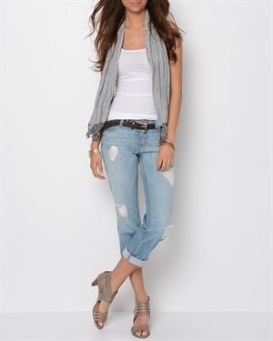 GJG Denim Cropped Jeans- Made In USA