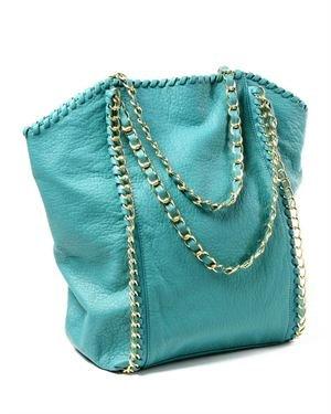 Amrita Singh Solid Color Chain Embellished Mia Shopper