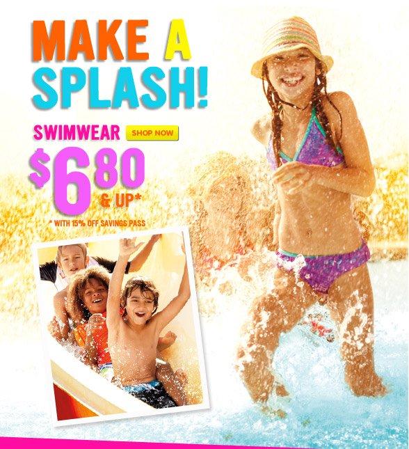 Swimwear $6.80 & Up!