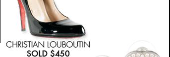 CHRISTIAN LOUBOUTIN - SOLD $450