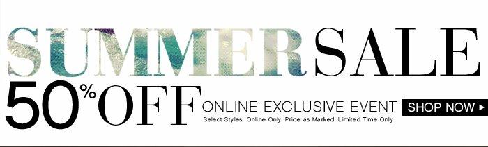 Shop Our 50% OFF Summer Sale!