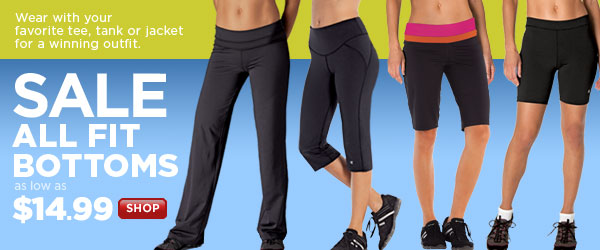 SHOP Fitness Bottom SALE!