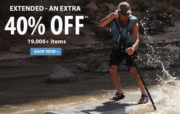 Extended - Top Secret Sale! An Extra 40% OFF 19,000+ Items!